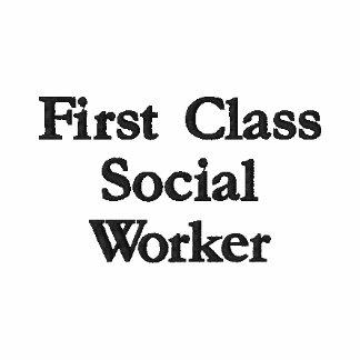 Asistente social de la primera clase polo bordado