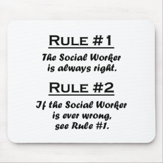 Asistente social de la regla tapetes de ratón