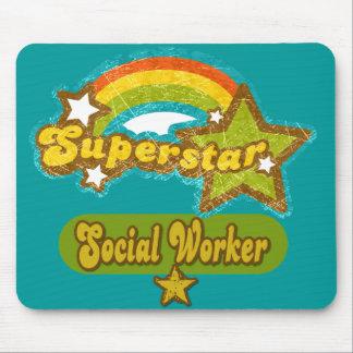 Asistente social de la superestrella mouse pads