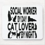 Asistente social del amante del gato alfombrilla de ratón