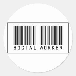 Asistente social del código de barras etiqueta