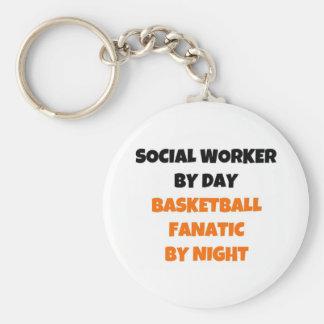 Asistente social del fanático del baloncesto del d llavero