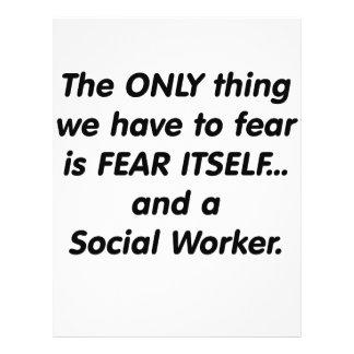 Asistente social del miedo tarjetas informativas