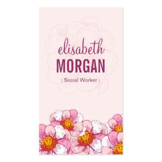 Asistente social - flores rosadas del boutique