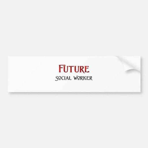 Asistente social futuro pegatina de parachoque