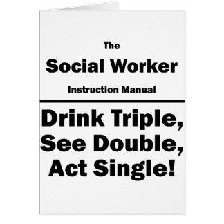 asistente social tarjeta pequeña