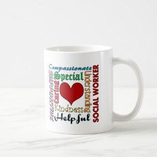 Asistente social taza de café