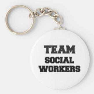 Asistentes sociales del equipo llaveros personalizados