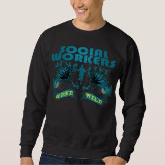 Asistentes sociales idos salvajes suéter