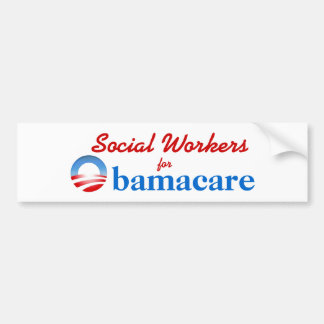 Asistentes sociales para Obamacare Pegatina Para Auto
