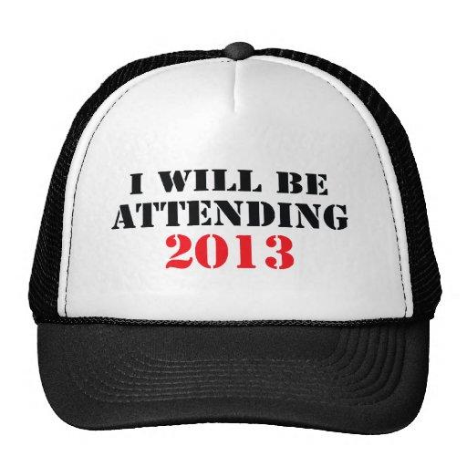Asistiré a 2013 gorra
