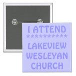 Asisto a la iglesia metodista de Lakeview Pin