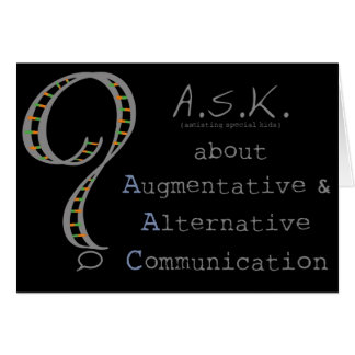 ASK about AAC black notecard