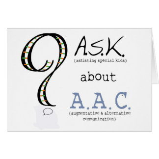 ASK about AAC notecards - 2 Card
