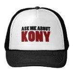 Ask About Kony 2012 Stop Joseph Kony Question Mesh Hat