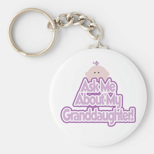 Ask About My Granddaughter Keychain