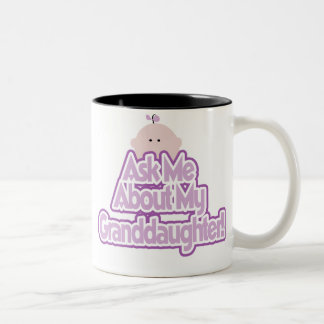 Ask About My Granddaughter Two-Tone Coffee Mug