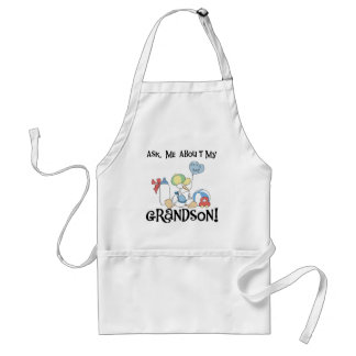 Ask About My Grandson Tshirts and Gifts Adult Apron