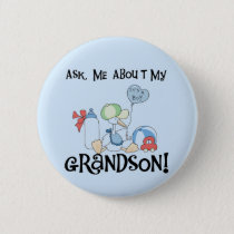 Ask About My Grandson Tshirts and Gifts Button