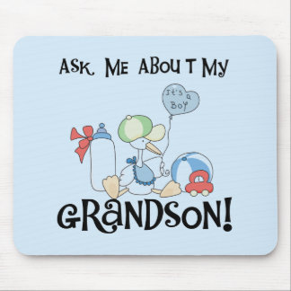Ask About My Grandson Tshirts and Gifts Mouse Pad