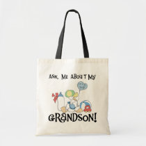 Ask About My Grandson Tshirts and Gifts Tote Bag