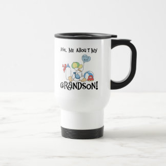 Ask About My Grandson Tshirts and Gifts Travel Mug