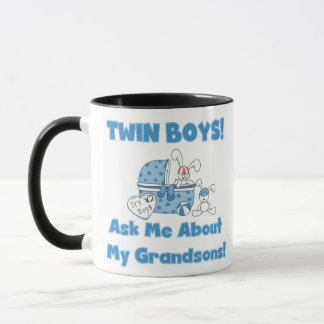Ask About My Twin Grandsons Mug