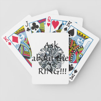 Ask about the ring! bicycle playing cards