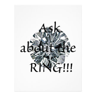 Ask about the ring! letterhead
