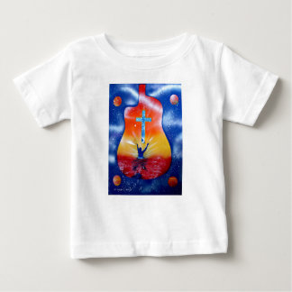 Ask and ye shall receive- man cross guitar baby T-Shirt