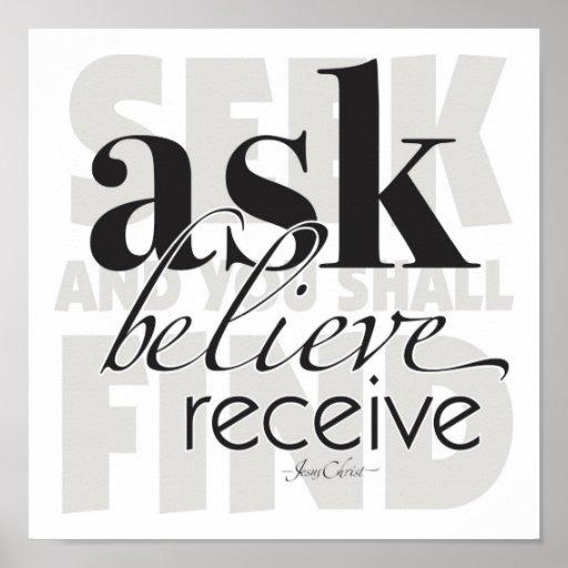 Ask Believe Receive Poster