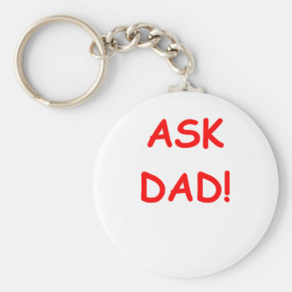 ask dad key chain