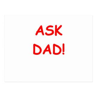 ask dad postcard