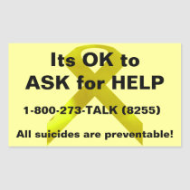 Ask for Help Sticker