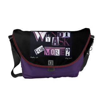 Ask For More Purple! Courier Bag