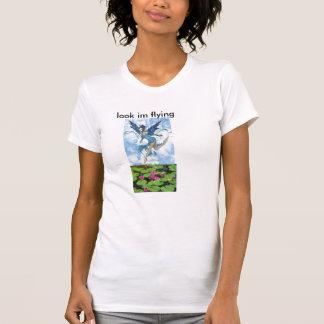 ask jpg, tarajpg, look im flying T-Shirt