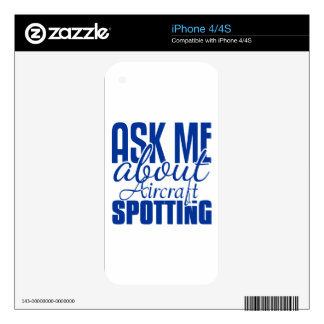 Ask Me About Aircraft Spotting Decal For iPhone 4S