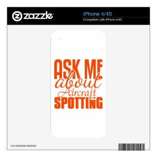 Ask Me About Aircraft Spotting Decals For iPhone 4S