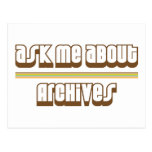 Ask Me About Archives Postcard