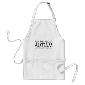 Ask Me About Autism Adult Apron