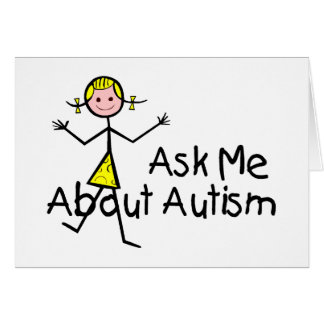 Ask Me About Autism Card