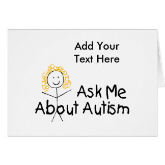Ask Me About Autism (Girl 1) Card