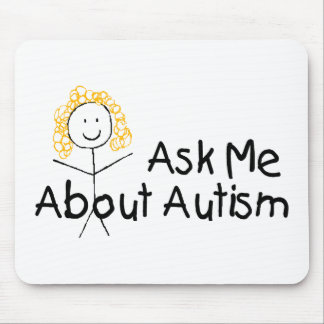 Ask Me About Autism (Girl 1) Mouse Pad