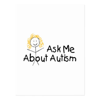 Ask Me About Autism (Girl 1) Postcard