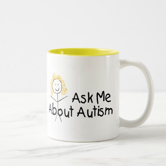 Ask Me About Autism (Girl 1) Two-Tone Coffee Mug
