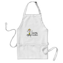 Ask Me About Autism (Girl 2) Adult Apron