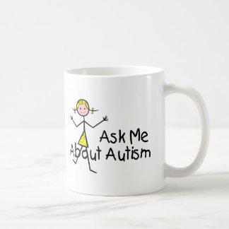 Ask Me About Autism (Girl 2) Coffee Mug