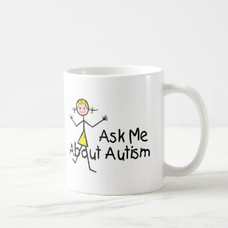 Ask Me About Autism (Girl 2) Mugs