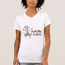 Ask Me About Autism (Girl 2) T-Shirt