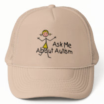 Ask Me About Autism (Girl 2) Trucker Hat